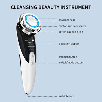 Face Massager Skin Rejuvenation Radio Mesotherapy LED Facial Lifting Beauty Vibration Wrinkle Removal Anti Aging Radio Frequency 2