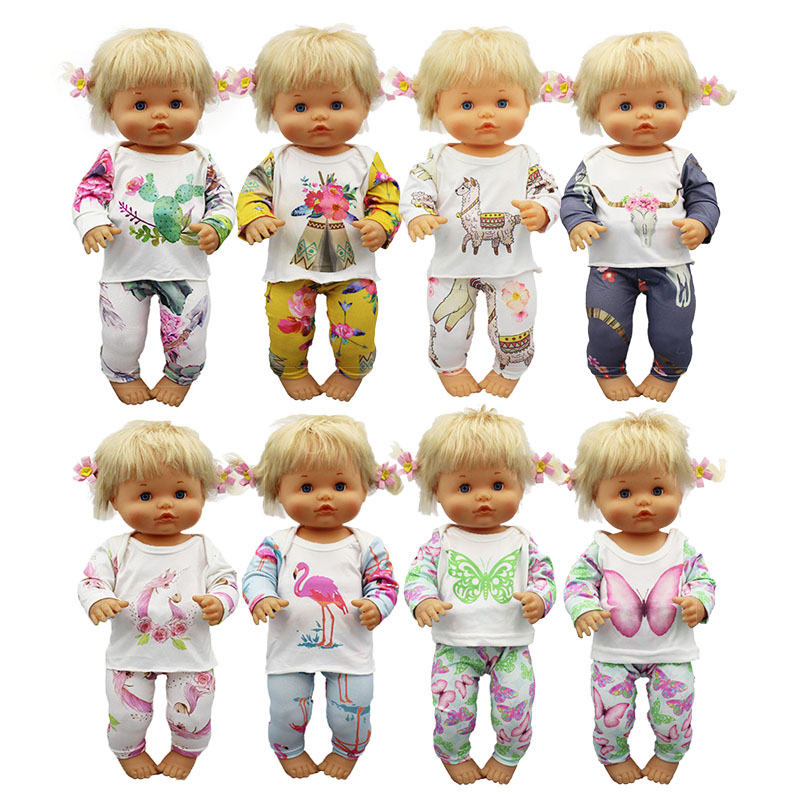 New Pajamas Doll Clothes Fit 42cm Nenuco Doll Nenuco Su Hermanita Doll Accessories
