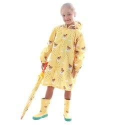 Crianças menino dos desenhos animados à prova dwaterproof água casaco de chuva poliéster meninos meninas roupas moda capa de chuva crianças meninas do bebê casaco de chuva