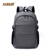 Laptop College Backpack Lightweight Minimalism USB Charging Port Business School Book Bag Travel Hiking Outdoor Daypack 16 Inch