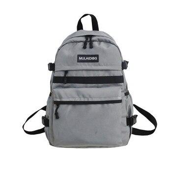 Teen Girls School Bags for Boys Backpack Women Bookbags Oxford Large College Student High Schoolbag Preppy Style Men Bagpack
