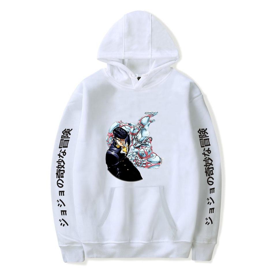 Popular white Comic JOJO Hoodies Men Women Sweatshirts Hooded Harajuku Hip Hop Casual Hoodie JOJO boys girls cartoon pullovers