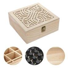 25 слот эфирное масло косметика парфюмерия диспенсер деревянный ящик для хранения Чехол Дисплей организатор древесины ароматерапия с парфю...