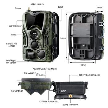 Cellular Mobile Hunting Camera 2G MMS SMS GSM 20MP 1080P Infrared Wireless Night Vision Wildlife Hunting Trail Camera HC801M 6