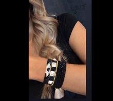 Новый женский браслет zhongvi «Миюки» с заклепками «сглаза»