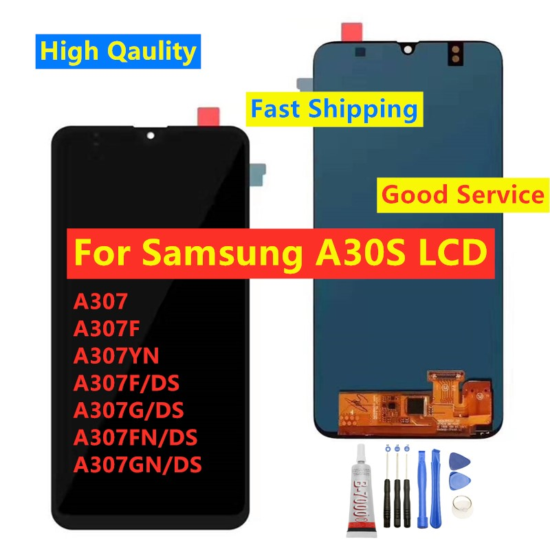 Tested <font><b>LCD</b></font> For <font><b>Samsung</b></font> <font><b>Galaxy</b></font> <font><b>A30s</b></font> A307F A307 A307FN <font><b>LCD</b></font> Display Touch Screen Assembly For <font><b>Samsung</b></font> <font><b>Galaxy</b></font> <font><b>A30s</b></font> <font><b>LCD</b></font> Replacement image