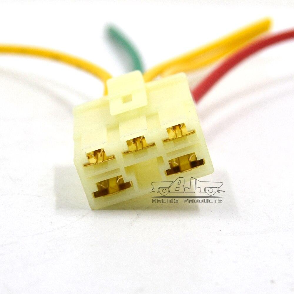 BJMOTO Motorcycle Regulator Rectifier Plug Voltage Regulator Male Connector for Honda VFR750 XL1000 VF400 FD NSR250RR 5 Wires