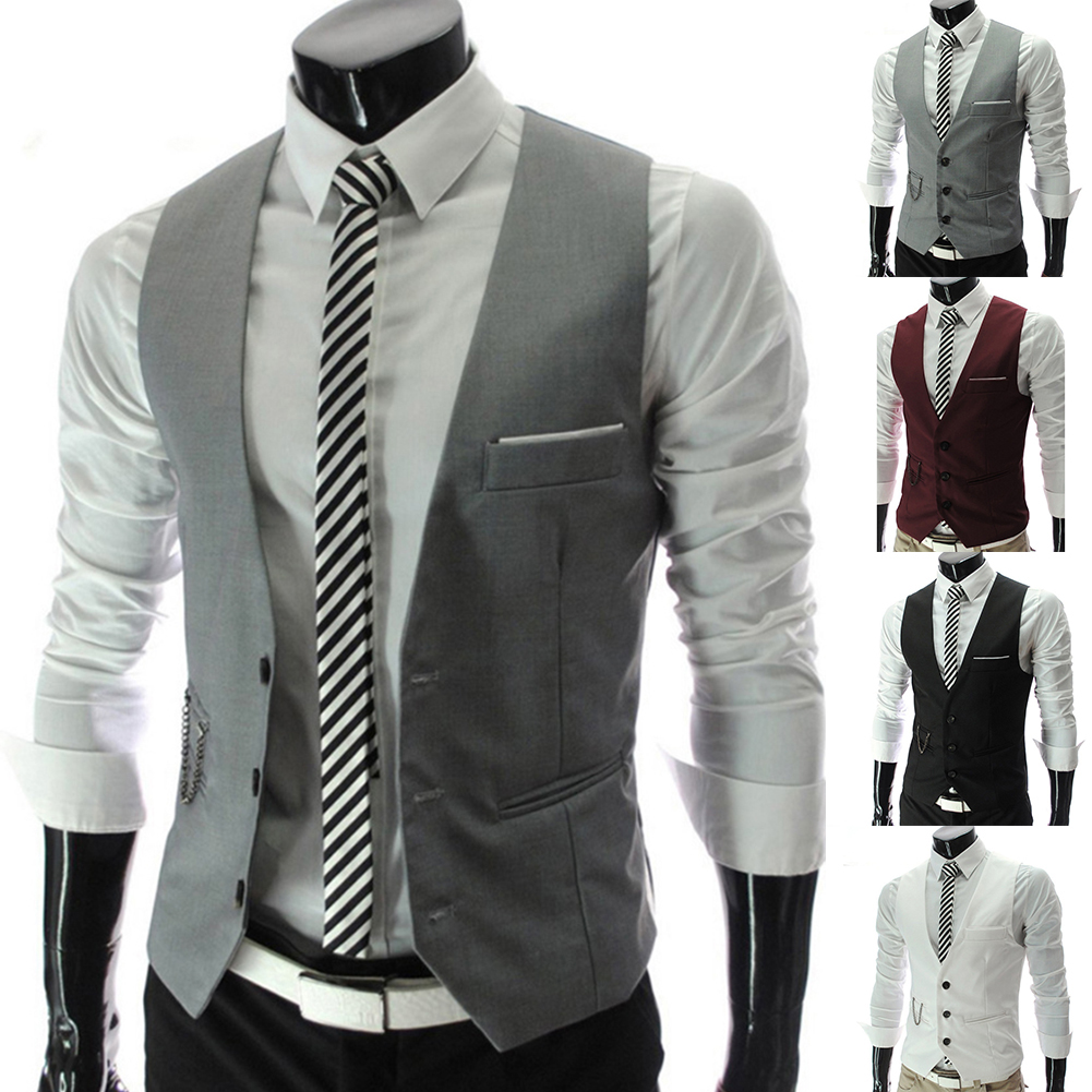 H2a0896e52ac649d09ba9bd852154467bK - 2020 New Arrival Casual Sleeveless Formal Business Jacket Dress Vests For Men Slim Fits Mens Suit Vest Male Waistcoat Homme
