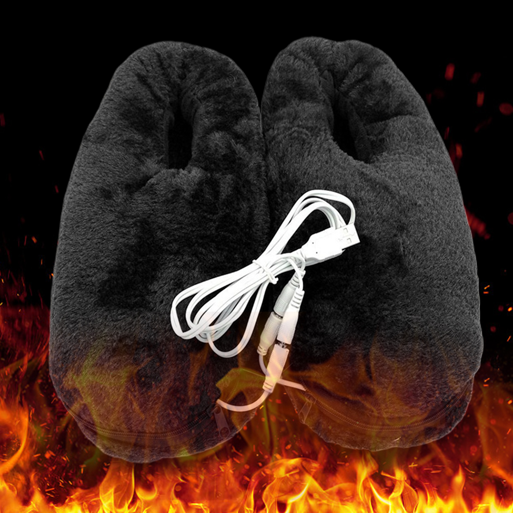 Практичная домашняя обувь с подогревом, электрическая, нагретая тапочка, USB, мягкая, портативная, зимняя, теплая, надежная Подушка, подарок с холодным облегчением|Электрические грелки|   | АлиЭкспресс