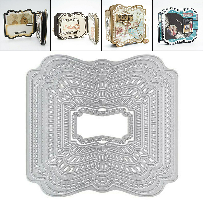 Book Collage Metal Cutting Dies Stencils For DIY Scrapbooking Photo Album Decorative Embossing Paper Cards Crafts