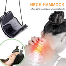 Black Neck Pillow Comfortable Correct Posture Nap Stress Reliever Relief The Pain Hammock for Outdoor Tourism Family Soft Office portable sleeping