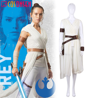 Star Wars 9 The Rise Of Skywalker Rey Cosplay Costume Jedi Rey Outfit Women Halloween Carnival Suit COSPLAYONSEN Custom Made