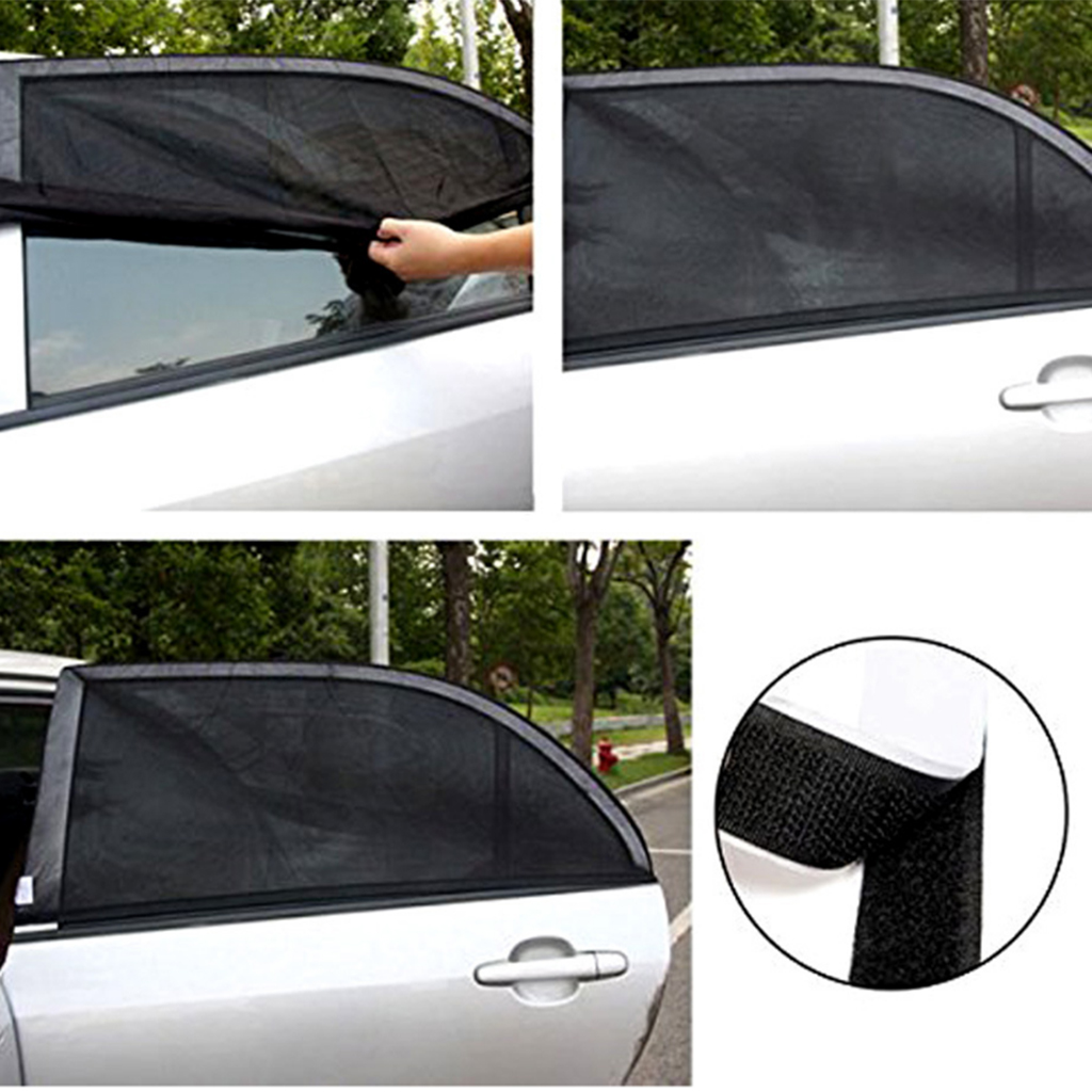 Auto Window Sun Shade Cover Baby Child UV Protector For Car SUV Van Set Of 2