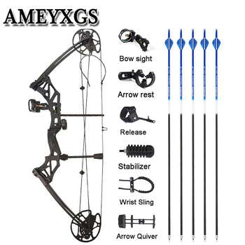 1 Set Archery 30-70 lbs Compound Bow IBO 320 fps Fishing Shooting Ourdoor Hunting Bow 16-31inch Draw Length Sports Bow And Arrow topoint archery compound bow package t1 cnc milling bow riser 19 30in draw length 19 70lbs draw weight 320fps ibo