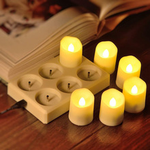 Chargeable Candle LED Remote Control Flameless Tea Lights Wedding Home Decoration Tea Light With Timer Dropshipping