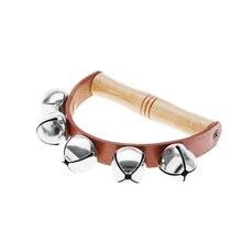 Бубен Колокольчик для ребенка раннего образования музыкальный инструмент ритм Beats трясущийся маленький колокольчик Игрушка instrumento