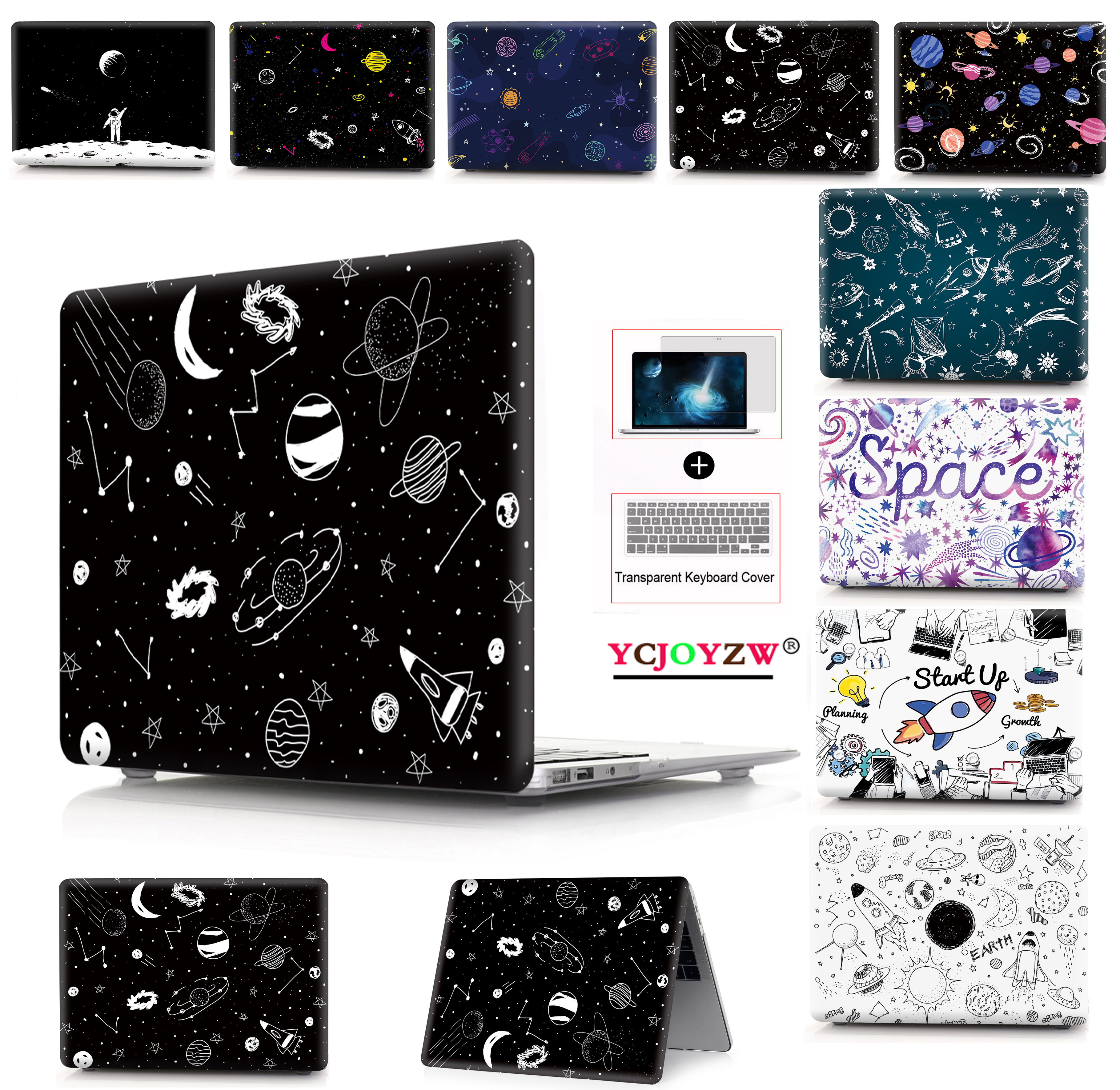 New 2019 Space Case <font><b>Cover</b></font> for MacBook Air 11 air 13 inch A1466 A1932 Pro 12 13 15 Retina A1502 A1706 <font><b>A1708</b></font> A1989 A2159Touch bar image