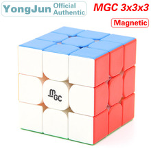 YongJun MGC Magnetic 3x3x3 Magic Cube YJ 3x3 Magnets Speed Puzzle Brain Teaser Antistress Educational Toys For Children surwish yj ruilong magnetic 3x3 magic cube educational toys for brain trainning colorful