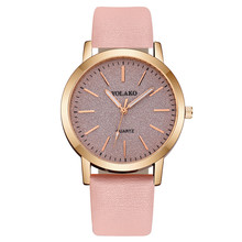 Women's Casual Quartz Leather Band Watch Sky Watches Analog