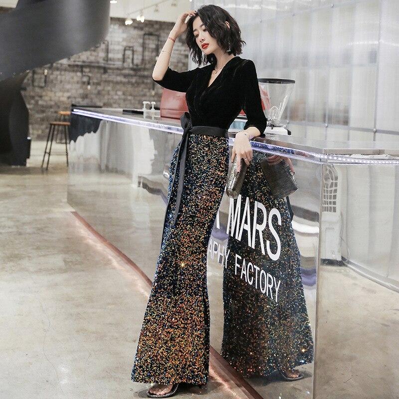 Image 5 - 2020 robe habituellement peut porter moderne femmes 2020 nouveau Style champ de gaz Sexy queue de poisson réunion annuelle jupeRobes de cocktail   -