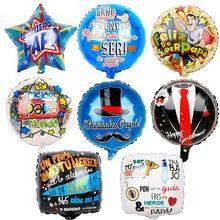 5 pçs 18 polegada espanhol feliz dia dos pais hélio globos feliz dia super papai foil balões pai mãe festa decoração baloes