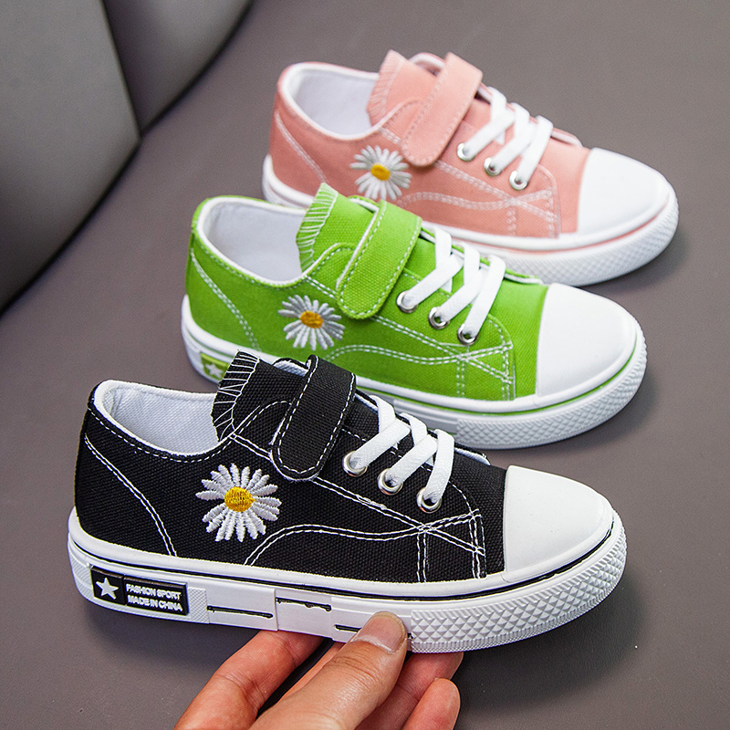 2020 Children's Fashion Sneakers Kids Flowers Casual Canvans Shoes Boys Girls Comfortable Sport Shoe(China)