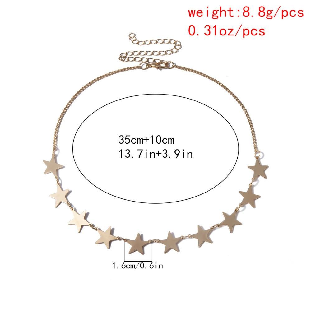 H2a09ddedf64140c5a89c8c3c43dfcd66m - Multi layer Punk chain with heart stars for women men padlock love pendant necklace statement gothic cool fashion jewelry