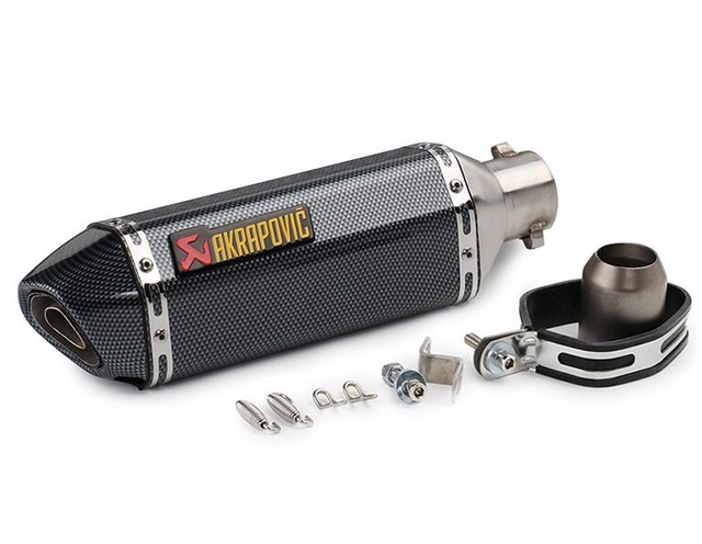 #y58 Genuine Akrapovic exhaust pipe FOR BMW f800gs adventure KTM rc <font><b>125</b></font> Kawasaki z800 honda cb400ss <font><b>yamaha</b></font> <font><b>mt</b></font> <font><b>125</b></font> moto parts image