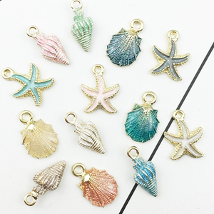 13 Pcs/Set Fashion Conch Sea Shell Pendant Charms For  DIY Craft Jewelry Making