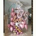 Большой размер 40 дюймов rosegold номер воздушный шар из фольги, 7, 8, 9, 35 лет День рождения Праздничный воздушный шар букет любовь юбилей decortion