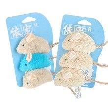 3 sztuk nowa pluszowa symulacja mysz zabawka dla kota pluszowa mysz kot zarysowania odporność na ugryzienia interaktywna zabawka mysz Palying zabawka dla kota Kitten