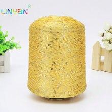 500 g/lote paillette Lantejoulas fios de lã agulha Naturais contas rendas amarrar um nó linha de fio para a mão de tricô crochê t64