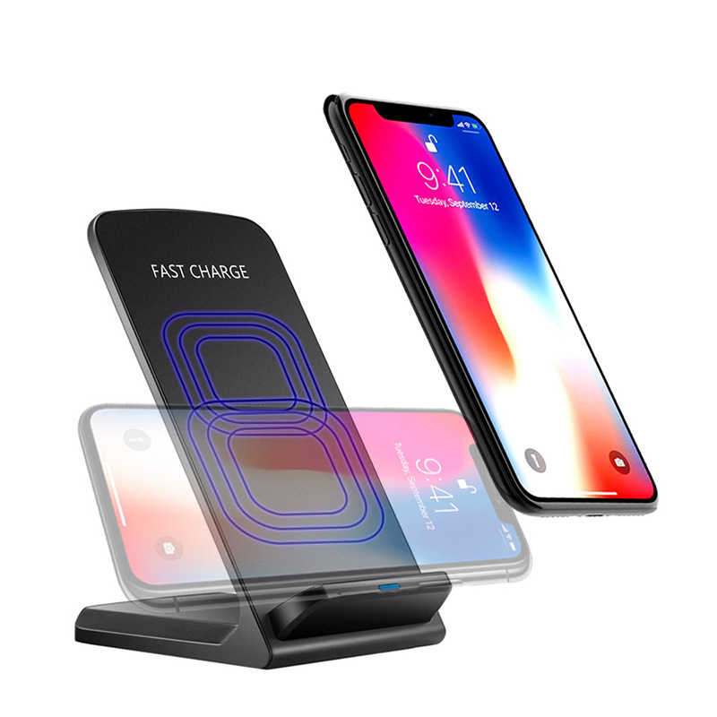 10W Qi Wireless Charger Fast Wireless Charging Stand Holder For iPhone X XS Max XR 8 plus Samsung S10 S9 S8 S7 S6 Edge Note 9 8