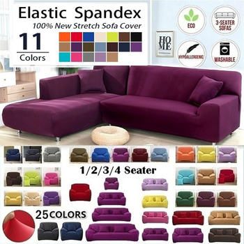 4/3/2/1 Seater L Shaped Sofa Covers Living Room Sectional Chaise Longue Spandex Armrest Slipcover Corner Stretch New