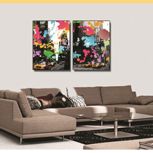 City Street Painting Color Graffiti Ornament Poster Fashionable Modern Style Canvas Oil Home Decor