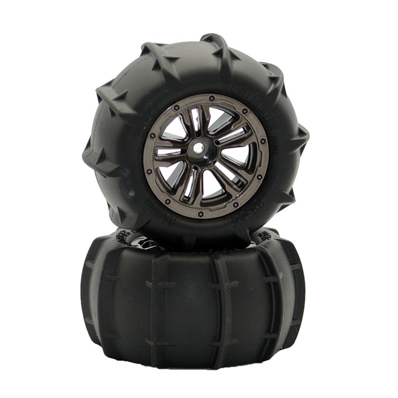 2PCS <font><b>Wheels</b></font> Tire Spare Parts Spare Part for XLH Q901 Q902 Q903 1/16 Scale <font><b>RC</b></font> Car image