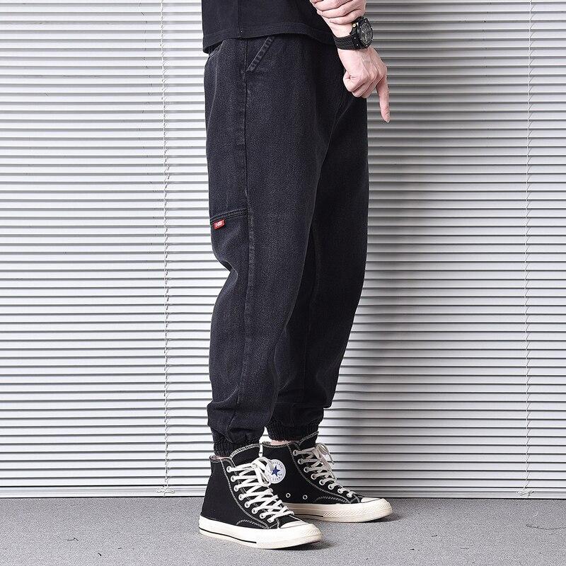 Japanese Vintage Fashion Men Jeans Loose Fit Spliced Designer Cargo Pants Harem Trousers Streetwear Hip Hop Jeans Men Joggers