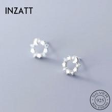 Stud-Earrings Zircon Hiphop-Accessories Fine-Jewelry 925-Sterling-Silver Women Fashion