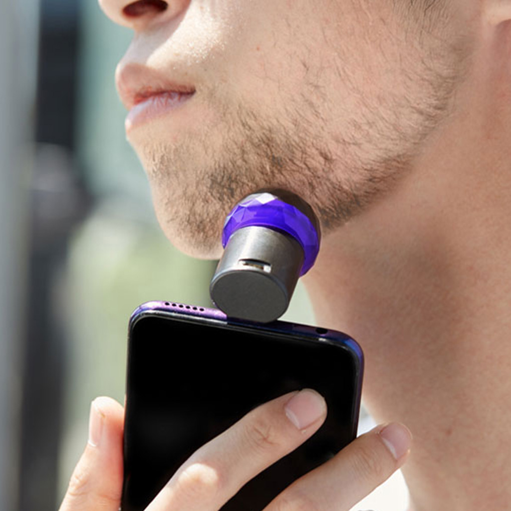 Portable Mini Phone Electric Razor Emergency Electric Shaver Waterproof Rechargeable Shaving Machine For Travel Micro USB/Type C