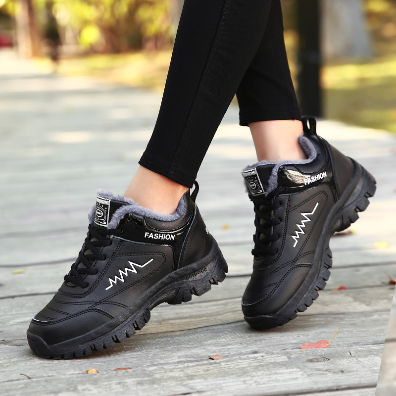 Women  Warm Waterproof Quality Flat Sneaker