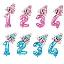Toys Balloons Mouse-Foil Cake Globos Baby Shower Birthday-Party Mickey Minnie Mini Decor-Supplies