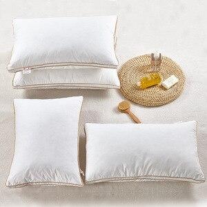 Image 3 - Soft White Goose Feather Down Pillow Sleep Pillow Pillows for Sleeping Kussens Almohada Cervical Oreiller Pour Le Lit Poduszkap