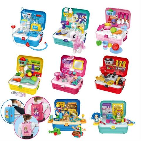 mochila kit medico role play criancas juguetes