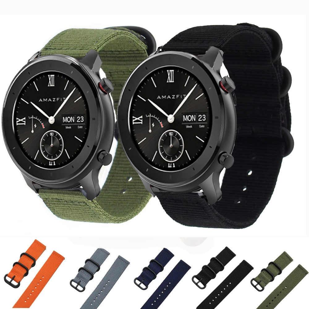 20 millimetri cinturino in nylon per Huami Amazfit GTR 42 millimetri 42 di sport del braccialetto uomo donna watch band per Xiaomi Amazfit BIp Lite Youth smart watch