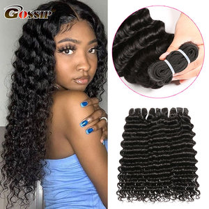 Deep Wave Bundles Brazilian Hair Weave Bundles Gossip 100% Human Hair Bundles 10-28 Inch Hair Extensions Remy Hair
