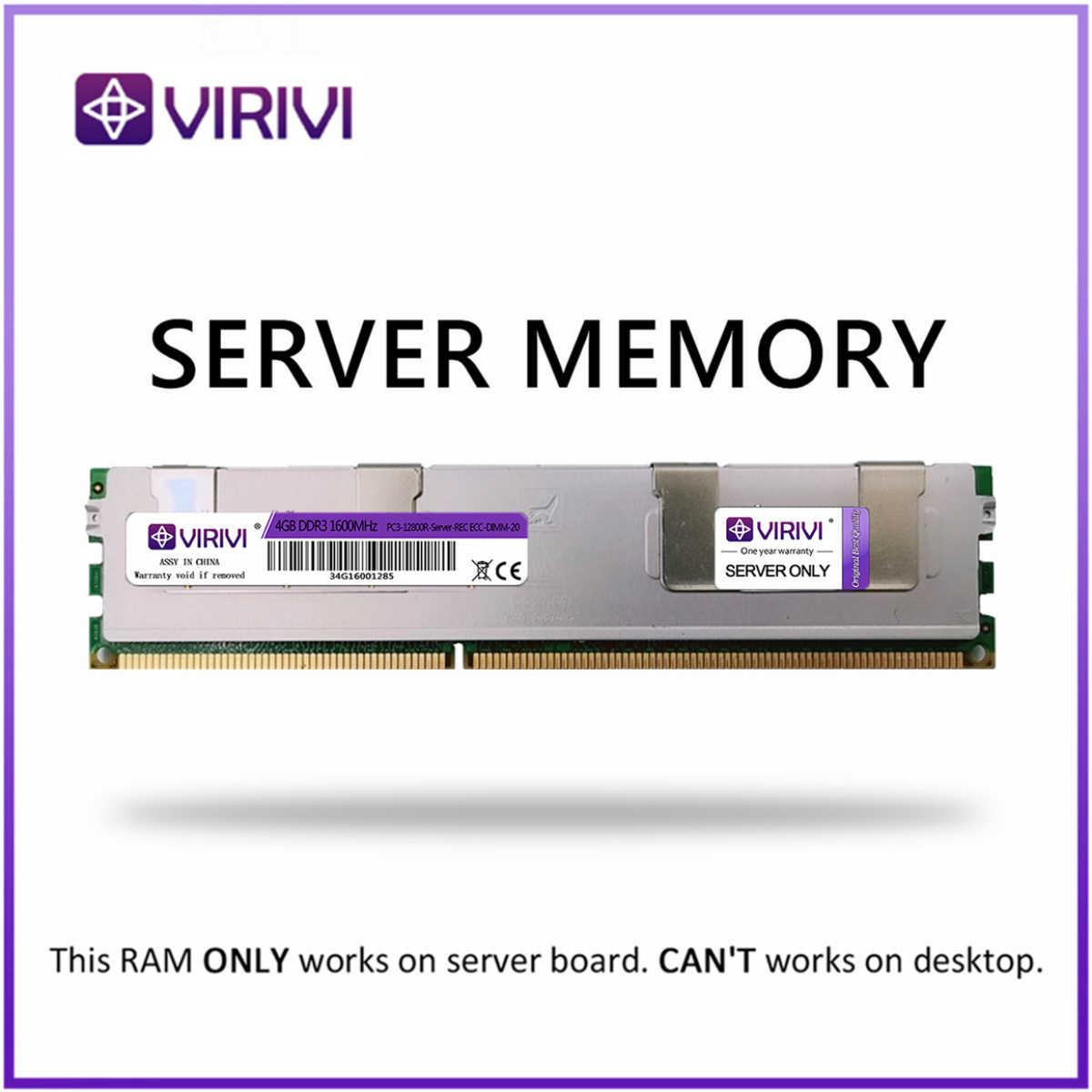 Di RAM con Dissipatore di Calore DDR3 4GB 8GB 16GB 32GB 1333MHz 1600Mhz 1066Mhz REG ECC VIRIVI di Memoria del Server 2011 CPU X58 X79 Scheda Madre Dimm