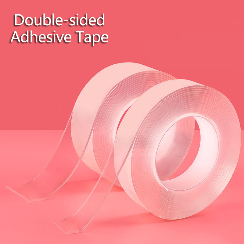Multifunctional Double-Sided Adhesive Nano Tape Traceless Tape Reusable Sticker Washable Anti-slip Fixed Adhesive 1/3/5 M