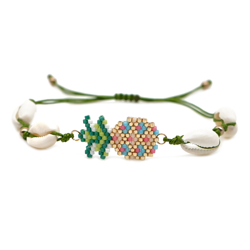 Go2boho Pineapple Bracelet Women Boho Shell Jewelry Delica Miyuki Pulseras Mujer 2019 Friendship HandWoven Bileklik