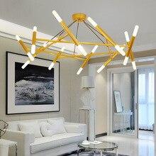 Modern Golden/Black LED chandelier lighting Nordic simplicity Iron fixtures for living room restaurant bedroom loft hanging lamp цена в Москве и Питере