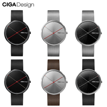 CIGA DESIGN CIGA Quartz Watch Fashion Simple Quartz Steel/Leather Belt Red Dot Design Award Watch Men Watch X series(China)